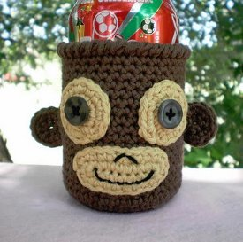 Soda Can Monkey Cozy