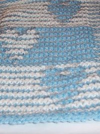 Double Heart Knit Illusion Scarf