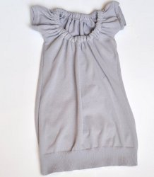 Shirt Into Gathered Neckline Sweater Dress