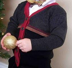 Men's Sweater to Toddler Cardigan Refashion