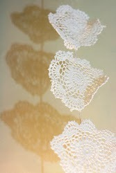 Upcycled Crocheted Doily Snowflake Garland/Bunting