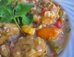 Slow Cooker Mexican Meatball Soup Recipe