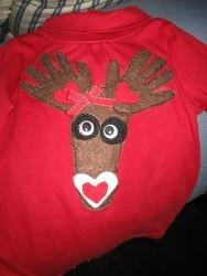 Foot and Hands Reindeer Shirt