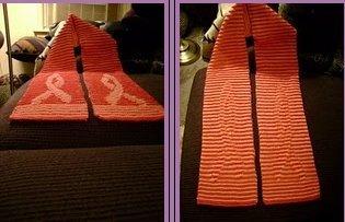 Pink Ribbon Illusion Scarf