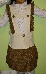 Repurposed Pair of Pants to Jumper Dress