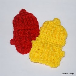 Fire Hydrant Applique Crochet Pattern