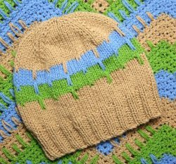 Top Down Elongated Stitches Baby Hat