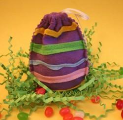 Felt Easter Egg Jelly Bean Bag
