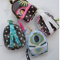 Mini Back Pack Coin Purse and Key Chain