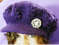 Puff Stitch Newsboy Cap