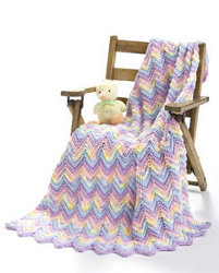 Ripple Pastel Baby Blanket