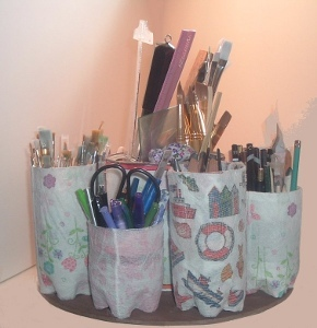 Water Bottle Supply Organizer Recycled Craft