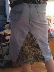 Upcycling Blue Jeans Into a Skirt