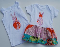 Bunny Shirts With a Freezer Paper Stenciling