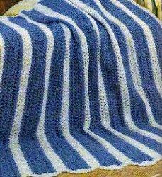 Blue Strip Afghan