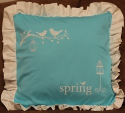 Spring Pillow With The Silhouette