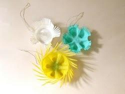 Plastic Bottle Bottom Ornaments