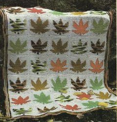Maple Leaf Afghan
