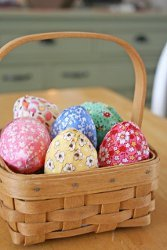 Fabric Covered Eggs Tutorial