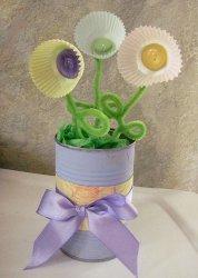 Cupcake Flower Vase