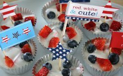 Memorial Day Party Flags and Recipe