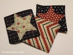 Patriotic Star Coasters Tutorial