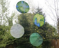 Easy Earth Day Window Decorations
