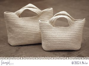Large and Medium Crochet Bags