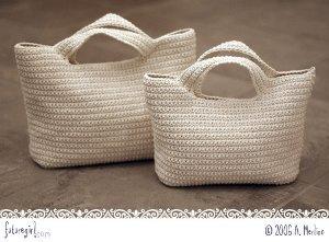 Large and Medium Crochet Bags