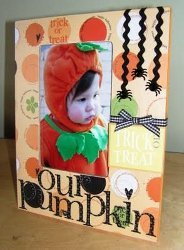 Our Pumpkin Altered Frame