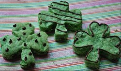 St. Patrick's Day Greenie Blondies