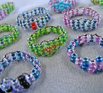 Woven Seed Bead Rings