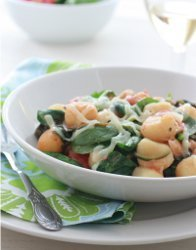 Skillet Gnocchi with Spinach and Chickpeas