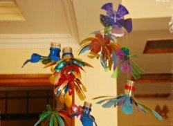Spring Flowers Mobile From Plastic Bottles