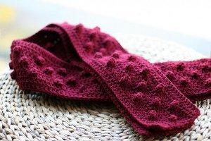 Bumpy Popcorn Crochet Scarf