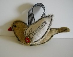 Fabric Scrap Bird Ornament
