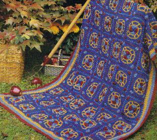 kaleidoscope crocheted afghan