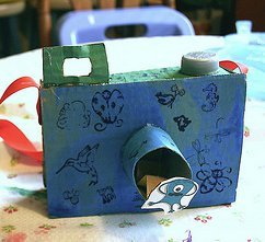 Cardboard Cameras for Vacation