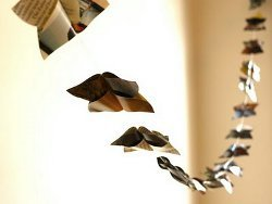 Recycled Paper Butterfly Garland