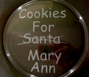 Etched Cookies For Santa Plate