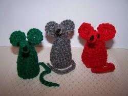 Crochet Christmas Mice
