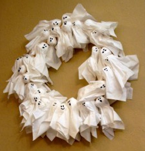 Tissue Ghost Wreath