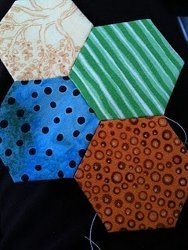 Ladder Stitching Hexagons