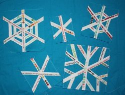 Selvage Snowflake Quilt Blocks