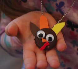 Bottle Cap Turkey Necklace