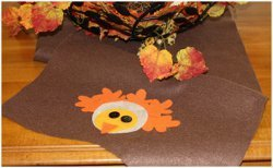 No-Sew Turkey Table Runner