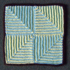 Square Knitting Patterns : Mitred Squares AllFreeKnitting.com