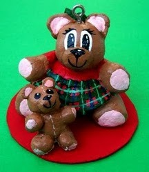 Dough Bear Ornaments