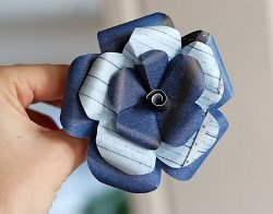 Pretty Recycled Paper Flowers