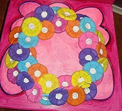Colorful Water Bottle Wreath